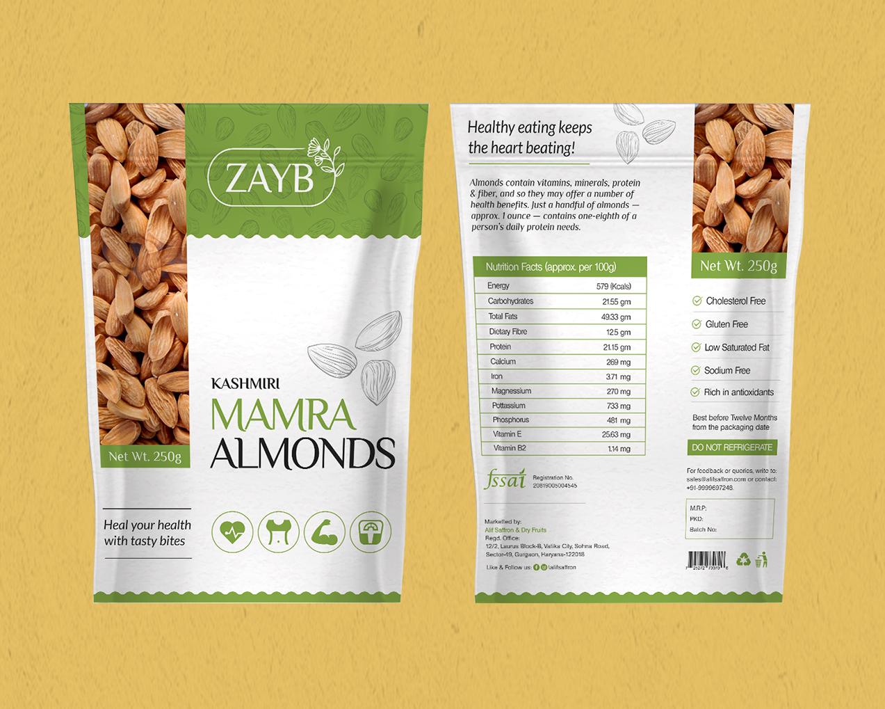 Mamra Almond Packaging